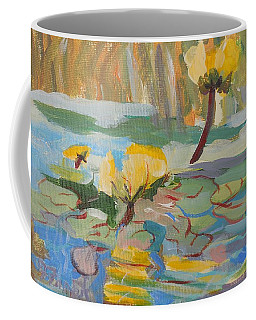 Coffee Mug featuring the painting Water Lilies by Francine Frank