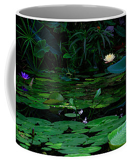 Water Lilies In The Pond Coffee Mug