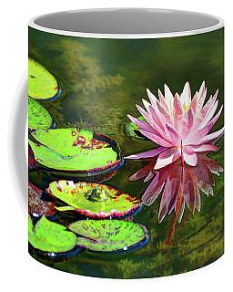 Water Lily And Frog Coffee Mug by Savannah Gibbs