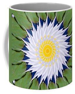 Coffee Mug featuring the photograph Water Lily Kaleidoscope by Bill Barber