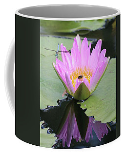 Water Lily With Dragon Fly Coffee Mug