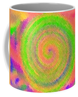 Coffee Mug featuring the digital art Water Melon Whirls by Catherine Lott