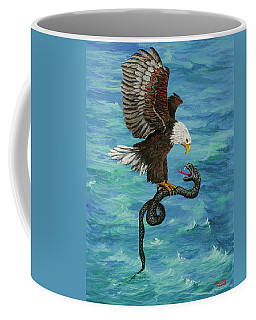 Coffee Mug featuring the painting Water Protector by Darice Machel McGuire