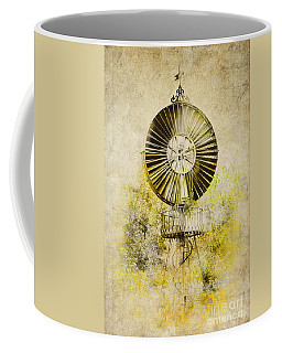 Coffee Mug featuring the photograph Water-pumping Windmill by Heiko Koehrer-Wagner
