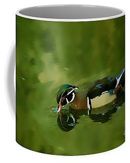 Male Wood Duck Water Reflections Coffee Mug