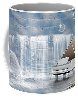 Water Synphony For Piano Coffee Mug by Angel Jesus De la Fuente