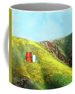 Water Tanks And Wildflowers Coffee Mug
