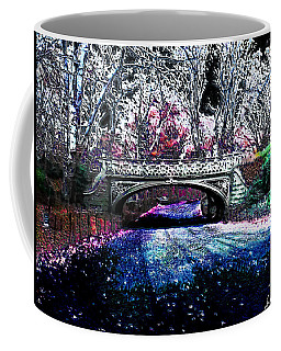 Coffee Mug featuring the photograph Water Under The Bridge by Iowan Stone-Flowers