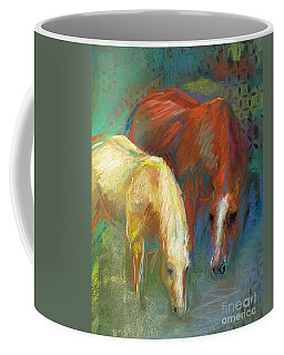 Coffee Mug featuring the painting Waterbreak by Frances Marino