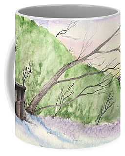 Watercolor Barn Coffee Mug by Darren Cannell