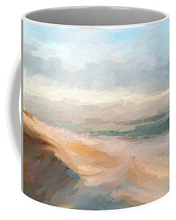 Watercolor Beach Abstract Coffee Mug by Anthony Fishburne