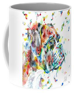 Watercolor Boxer Coffee Mug