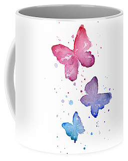 Watercolor Butterflies Coffee Mug
