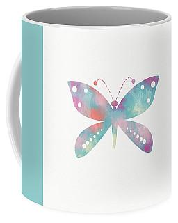 Watercolor Butterfly 3-art By Linda Woods Coffee Mug