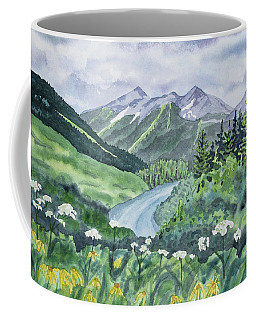 Watercolor - Colorado Summer Landscape Coffee Mug