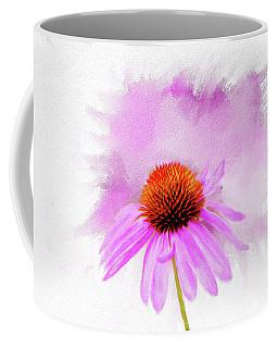 Watercolor Cone Flower Coffee Mug