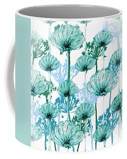 Coffee Mug featuring the digital art Watercolor Dandelions by Bonnie Bruno