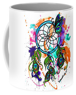 Watercolor Dream Catcher Coffee Mug