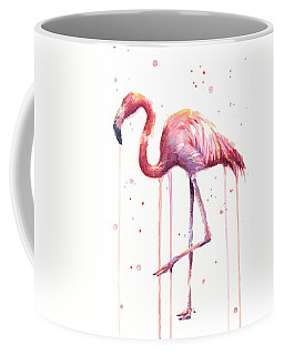 Watercolor Flamingo Coffee Mug