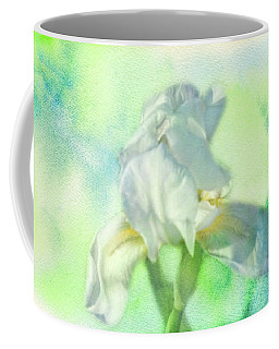 Watercolor Iris Coffee Mug by Joan Bertucci