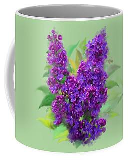 Watercolor Lilac Coffee Mug