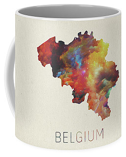 Watercolor Map Of Belgium Coffee Mug