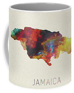 Watercolor Map Of Jamaica Coffee Mug