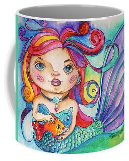 Watercolor Mermaidia Mermaid Painting Coffee Mug