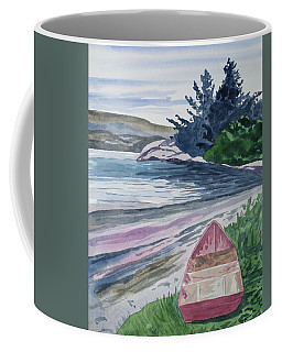 Coffee Mug featuring the painting Watercolor - New Zealand Harbor by Cascade Colors