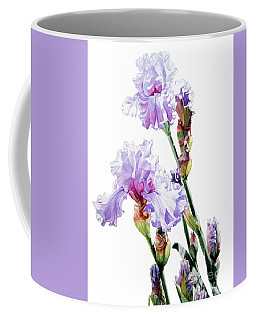 Watercolor Of A Tall Bearded Iris I Call Lilac Iris Wendi Coffee Mug