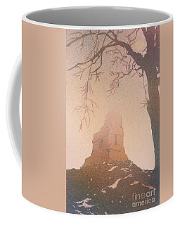 Coffee Mug featuring the painting Watercolor Painting Of Mayan Temple- Tikal, Guatemala by Ryan Fox