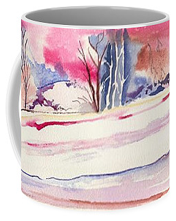 Coffee Mug featuring the painting Watercolor River by Darren Cannell
