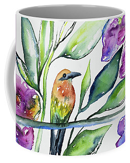 Coffee Mug featuring the painting Watercolor - Rufous Motmot by Cascade Colors
