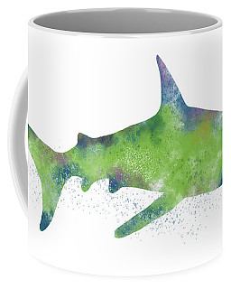 Watercolor Shark 2-art By Linda Woods Coffee Mug