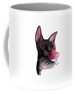 Watercolor Sphinx Coffee Mug