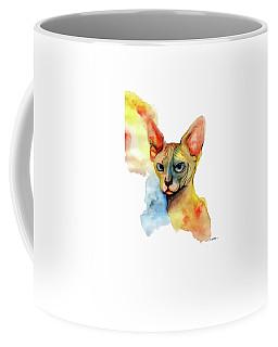 Watercolor Sphynx 2 Coffee Mug by Akiko Okabe