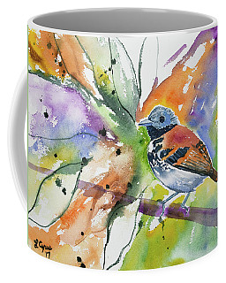Coffee Mug featuring the painting Watercolor - Spotted Antbird by Cascade Colors
