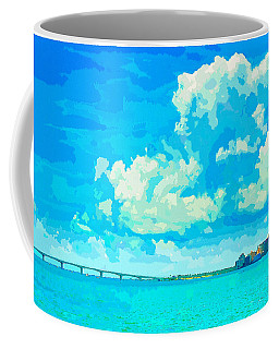 Watercolor Spring On Sarasota Bay Coffee Mug