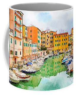 Coffee Mug featuring the digital art Watercolor Style by Ariadna De Raadt