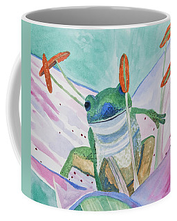 Coffee Mug featuring the painting Watercolor - Tree Frog by Cascade Colors