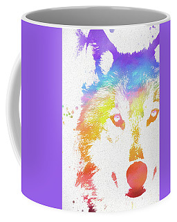 Watercolor Wolf Coffee Mug
