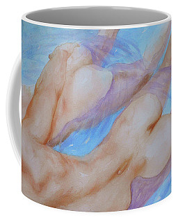 Watercolour Painting Gay Interest Men In Swimming Pool #16-12-21 Coffee Mug