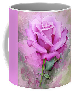 Watercolour Pastel Lilac Rose Coffee Mug