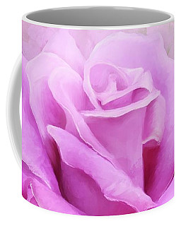 Watercolour Pastel Lilac Rose Coffee Mug