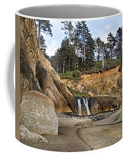 Waterfall At Hug Point State Park Oregon Coffee Mug