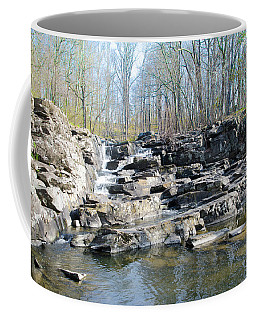 Coffee Mug featuring the photograph Waterfall At Wickecheoke Creek by Bill Cannon
