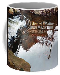 Waterfall From Calm Waters Coffee Mug