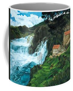 Waterfall In Krka Coffee Mug