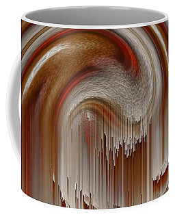 Coffee Mug featuring the painting Waterfall Painting by Sheila Mcdonald