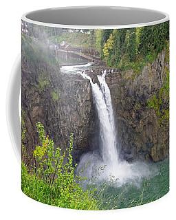 Waterfall Through The Mist Coffee Mug